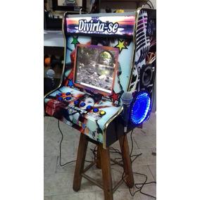 Karaoke Jukebox Tela 15pol Maquina Nova Hd Oke