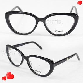 327a0b1f7f62b Oculos De Grau Chanel Feminino Preto - Óculos no Mercado Livre Brasil