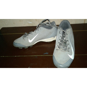 Nike Vapor Baseball Cleats Boys Size Mex 23.5 Y Gray & White