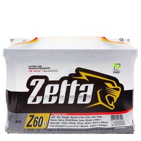 Bateria De Carro Zetta 60 Amperes - Preço Imperdivel