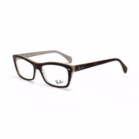 fa9db272e6dc2 Armação De Óculos De Grau Ray-ban Feminino - Rb5255 5075