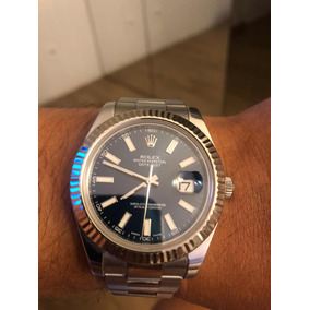 Rolex Date Just 2 41mm Aro Ouro Branco