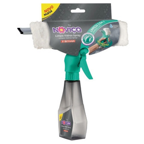 Kit Com 2 Limpas Vidros Spray Plástica Noviça