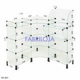 Balcão L Em Vidro Modulado Com Caixa 1,10 X 1,10 X 1,10