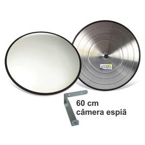Espelho Convexo 60 Cm Com Câmera Espiã