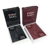 Cartas Poker Star Rojo Y Negro
