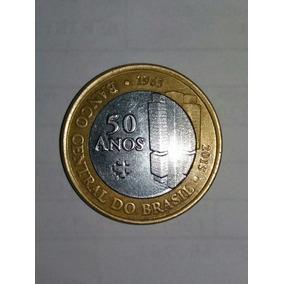 Moeda Comemorativa 50 Anos Do Banco Central / 2015