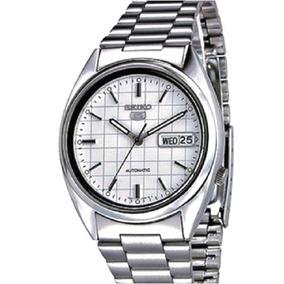 Relógio Seiko Automático Masculino Aço Snxf05k, Tradicional