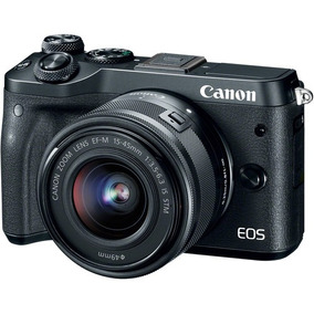 Camera Canon M6 Com Lente Ef-m 15-45mm F/3.5-6.3 Is Stm Zoo