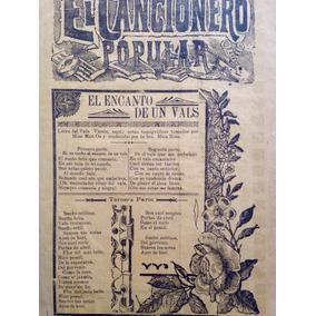 Antiguo Grabado El Cancionero Popular Jose Guadalupe Posada