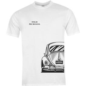 Camiseta Fusca Old School Branca Unissex Malha De Qualidade 4deb27fbac909