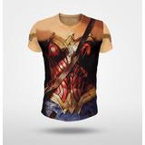 Remera Wonder Woman (mujer Maravilla) Simula Traje Fullprint