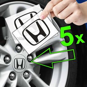 5x Adesivo Emblema Logo Calotinha Tampa De Roda Honda Civic