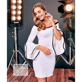 Envio Gratis Ropa Mujer Vestido Blanco Hombros I17 179