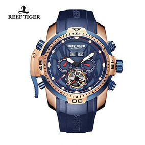 Reef Tiger Luminous Sport Complicated Blue Dial Automatic Wa