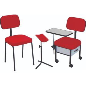Cadeira Manicure + Cadeira Cliente + Tripé Oferta