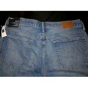 Jeans Marca Gap 1969, Modelo Straight, Talla 34x30, Azul