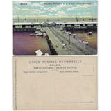 Amazonas Anos 1910 Cartão Postal Ponte Flutuante Manaus