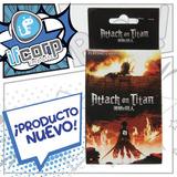 Attack On Titan Juego Cartas Para Poker Shingeky No Kyojin