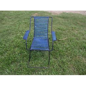 Antiga Cadeira De Balanço De Ferro (cod.2664)