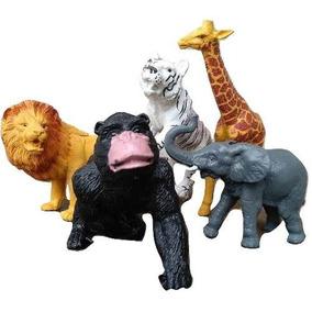 Kit Animais Safari Fazenda Borracha Brinquedo Barato