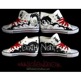 Zapatos Death Note Manzana Marca Collec Diseño Hecho A Mano