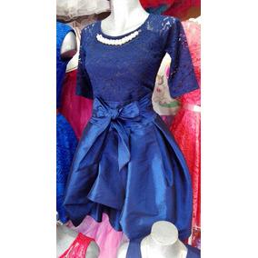 Vestido azul cola de pato