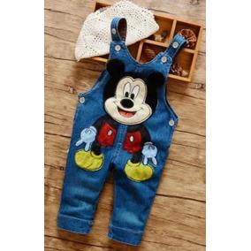 Roupas De Bebê Jardineira Jeans Mickey Menino Importado