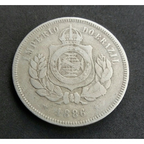 Moeda 200 Réis 1886 Escassa