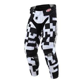 Pantalon Cross Para Niño Troy Lee Gp Air Maze Blanco/negro