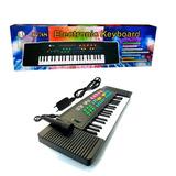 Teclado Mediano Para Niños Con Microfono Organo Karaoke 63cm
