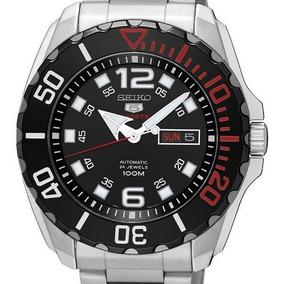 Reloj Hombre Seiko Srpb35k1 Automatico Acero Dial Negro