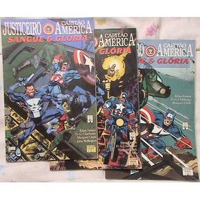 Justiceiro E Capitão América Sangue & Glória Nº 2 E 3