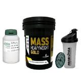 Combo Massa Mass Gold 4 Kg +dilatex + Coqueteleira