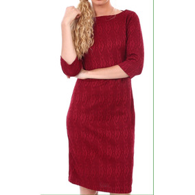 Remate Vestido Coctel Rojo Media Pierna Plus Size Xl C401