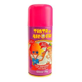 Spray Para Cabelo Tinta Da Alegria Pink 120ml