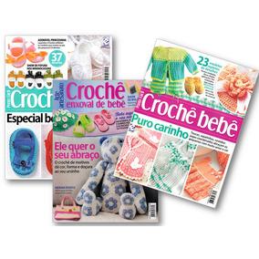 Kit 3 Revistas Tricô E Crochê Enxoval Do Bebe E Sapatinhos
