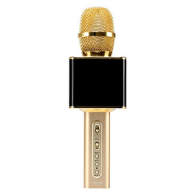 Microfone Karaokê Bluetooth Portatil Criança Cantar Musica