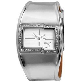 Relógio Puma Shine Prata Novo E Original Pu101502002
