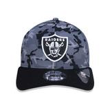 Boné New Era 3930 Oakland Raiders Militar Cinza