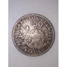 Moeda Republica Dos Estados Unidos Brasil 100 Reis 1889