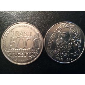 Moeda De 5.000 Cruzeiros De 1992-tiradentes - Aço Inoxidável