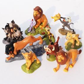 Kit 9 Bonecos Rei Leão Lion King Simba Mufasa Scar Timão