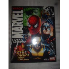 Álbum De Figurinhas Heróis Marvel 2008 Completo