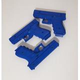 Blue Gun/ Kit 3pistolas Glock 800 Gr