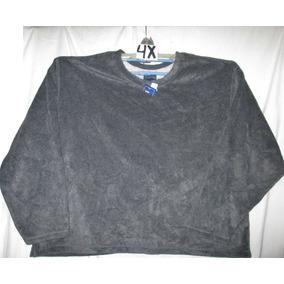 Sudadera Sweater Gris Tela Polar Talla 4x Basic Edition