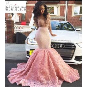 Elegante Vestido Corte Sirena Para Esa Ocacion Especial!!!!!