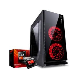 Pc Gamer Amd Six-core Gigabyte Rx560 4gb Cooler Led Vermelho