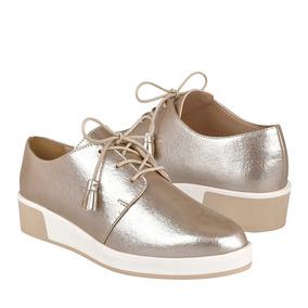 Zapatos Dama Capa De Ozono 403503-3 Simipiel Oro Claro