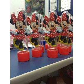 40 Tubetes 3 D Minnie 50 Caixinhas Vermelha E Mickey